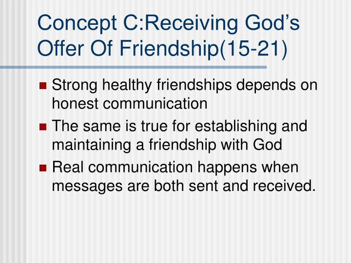 Concept C:Receiving God's
