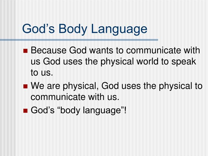 God's Body Language
