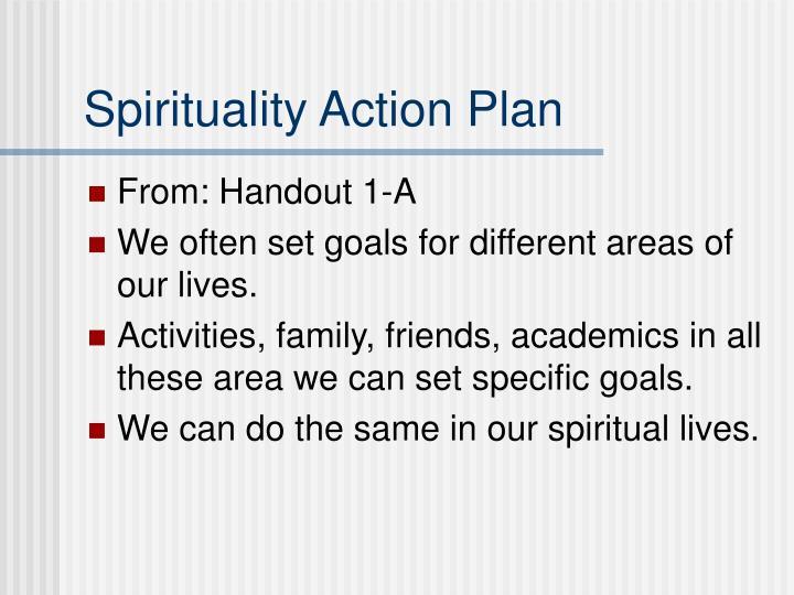Spirituality Action Plan