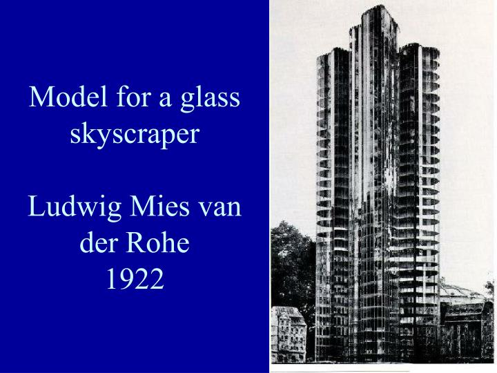 Model for a glass skyscraper