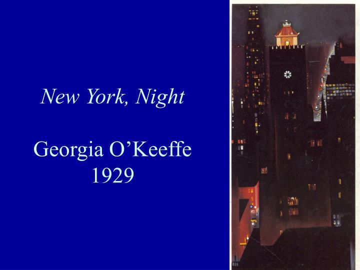 New York, Night