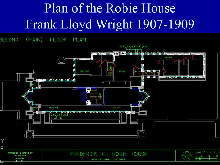 Plan of the Robie House