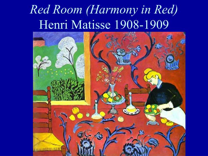 Red room harmony in red henri matisse 1908 1909