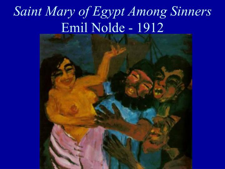 Saint Mary of Egypt Among Sinners