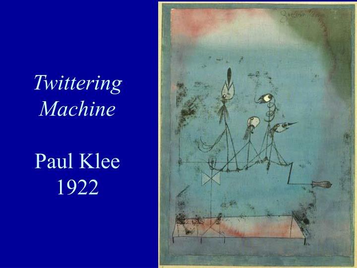 Twittering Machine