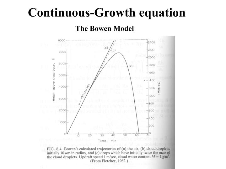 Continuous-Growth equation
