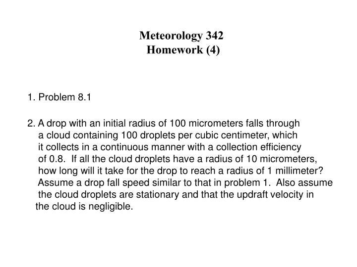 Meteorology 342