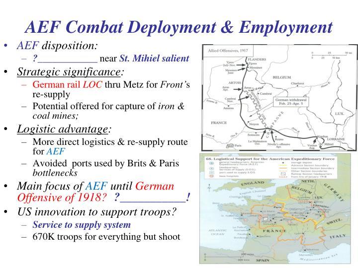 AEF Combat Deployment & Employment