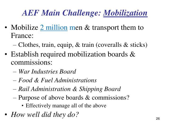 AEF Main Challenge: