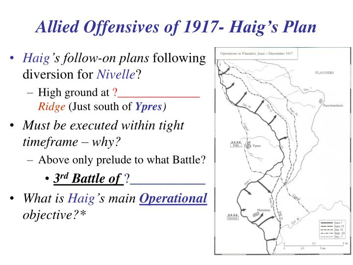 Allied Offensives of 1917- Haig's Plan