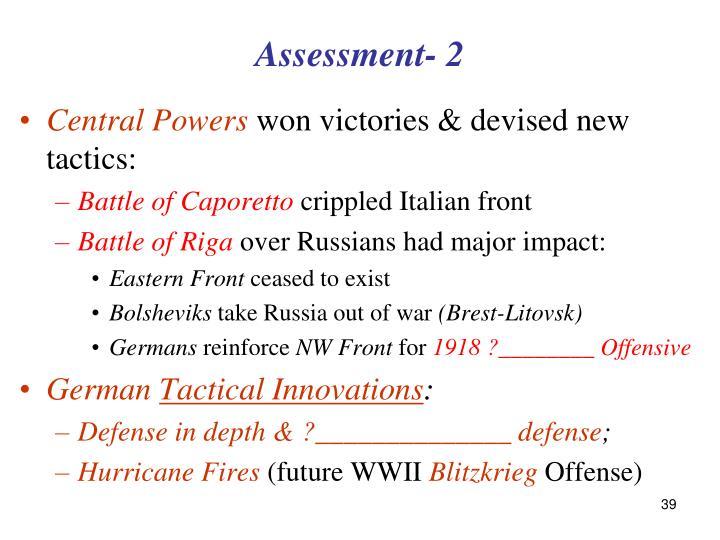 Assessment- 2