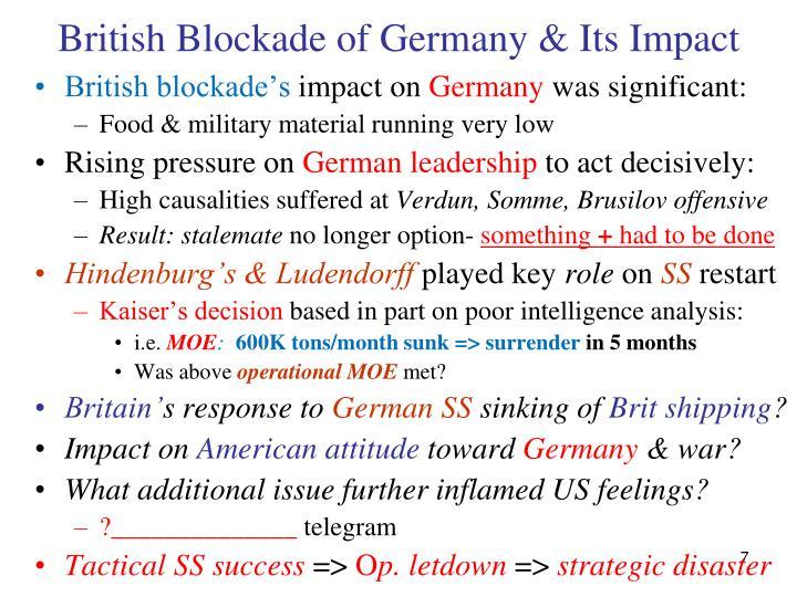 British Blockade of Germany & Its Impact