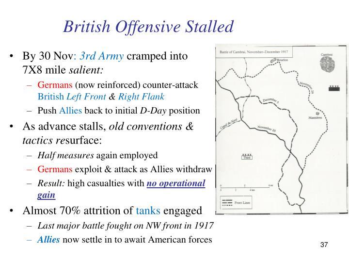 British Offensive Stalled