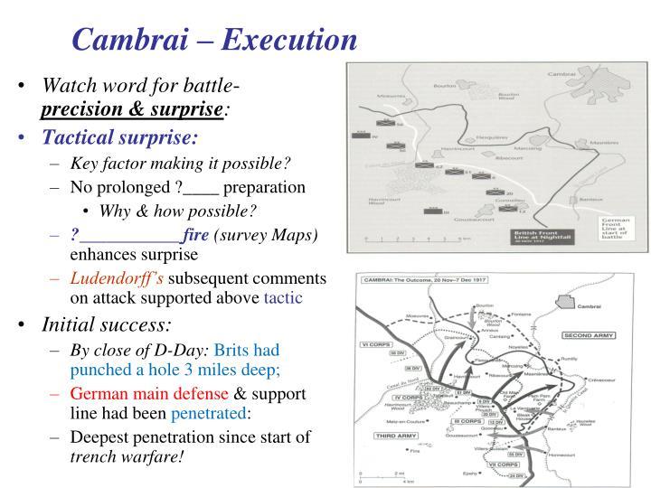 Cambrai – Execution