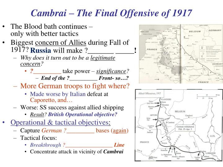 Cambrai – The Final Offensive of 1917