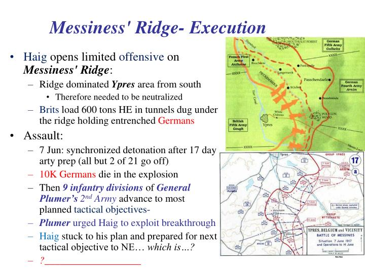 Messiness' Ridge- Execution