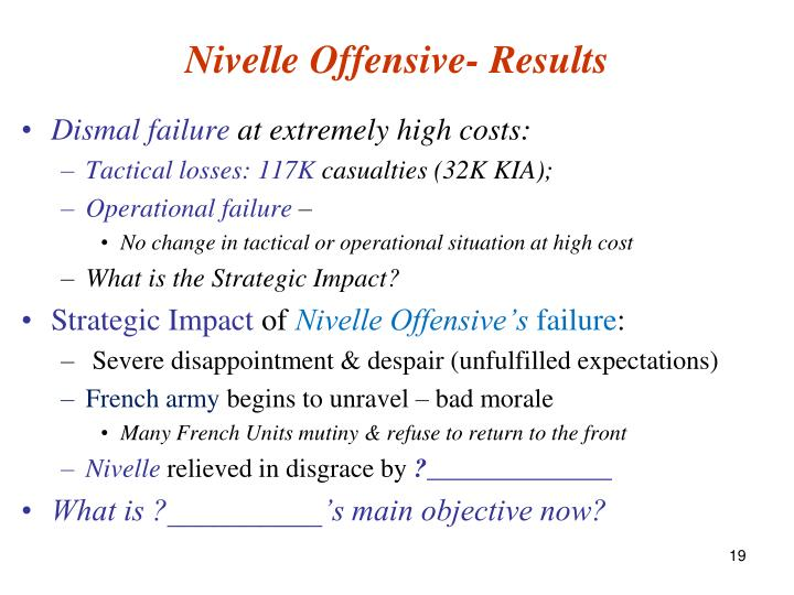 Nivelle Offensive- Results