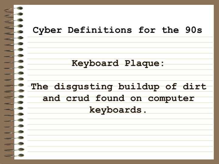 Keyboard Plaque: