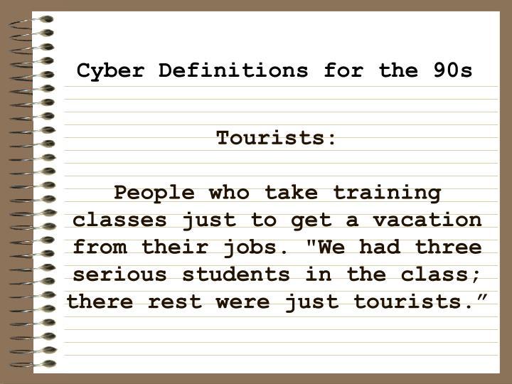 Tourists: