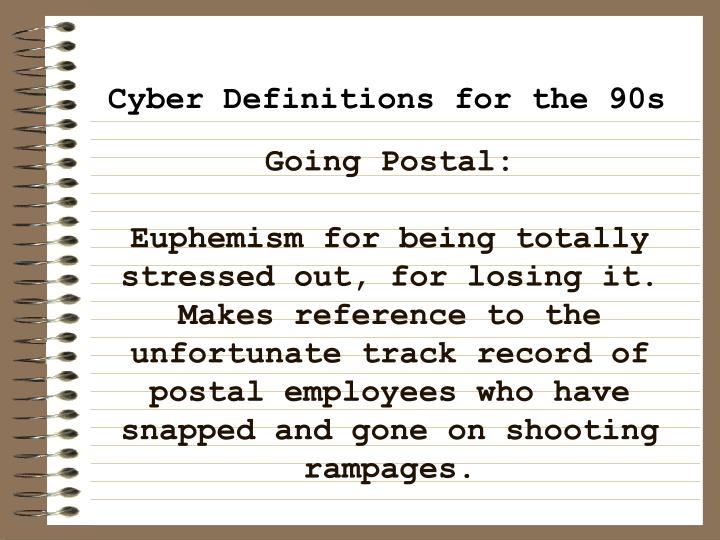 Going Postal: