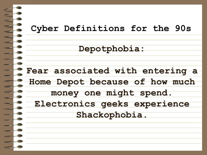 Depotphobia: