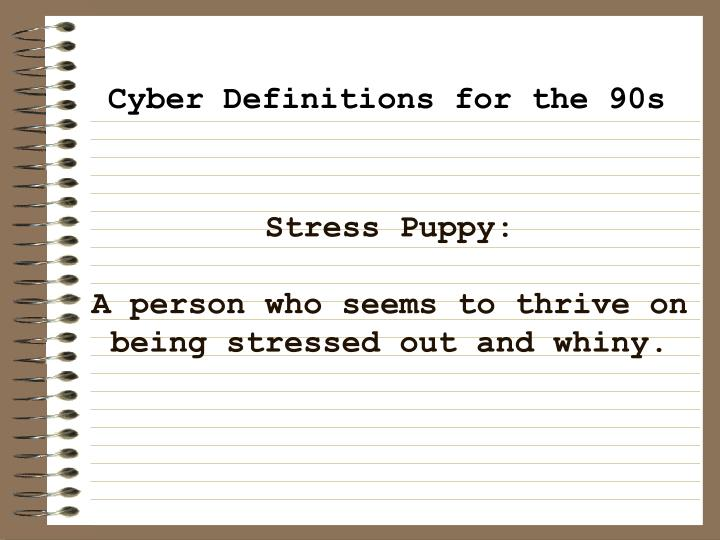 Stress Puppy: