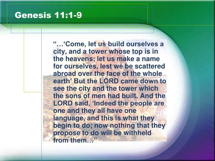 Genesis 11:1-9