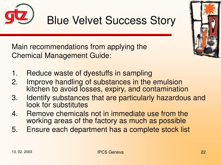 Blue Velvet Success Story