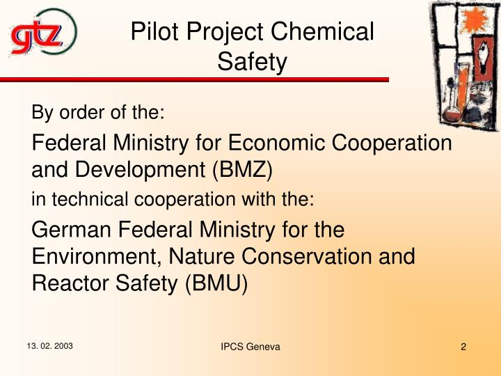 Pilot Project Chemical Safety