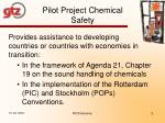 pilot project chemical safety1