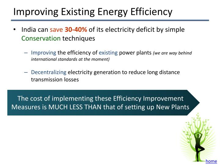 Improving Existing Energy Efficiency