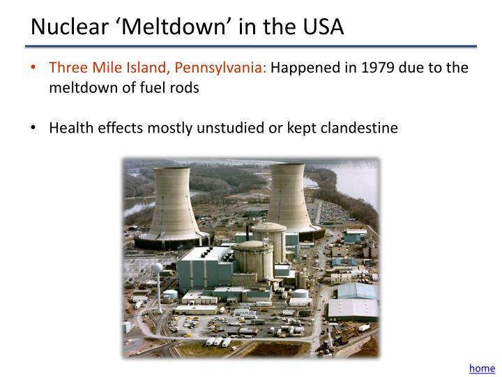 Nuclear 'Meltdown' in the USA