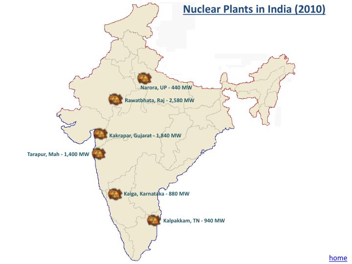Nuclear Plants in India (2010)