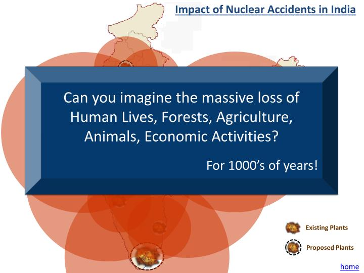 Impact of Nuclear Accidents in India