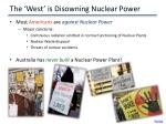 the west is disowning nuclear power