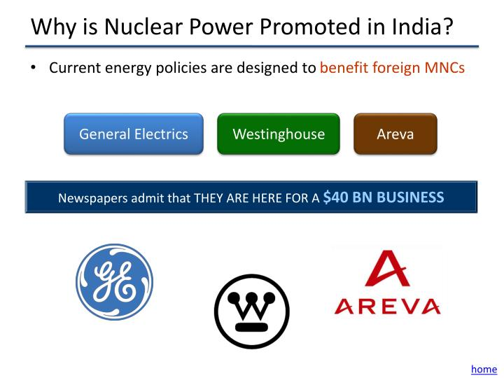 Why is Nuclear Power Promoted in India?