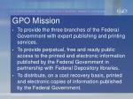 gpo mission