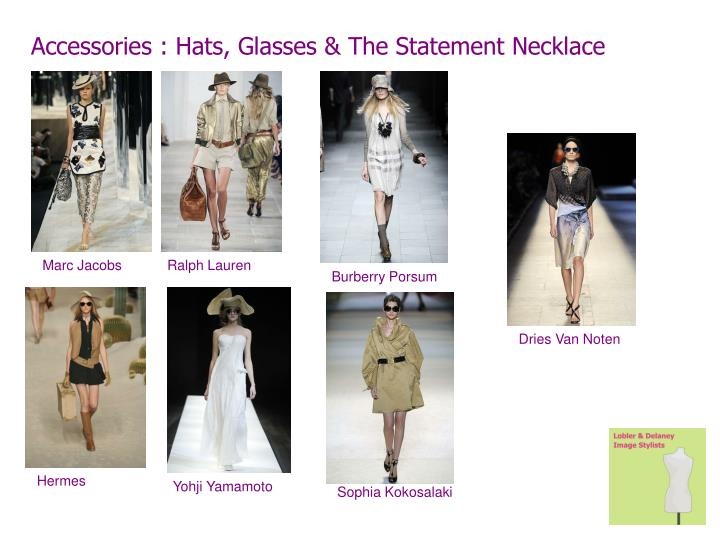 Accessories : Hats, Glasses & The Statement Necklace