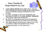 iowa standards requirements by law