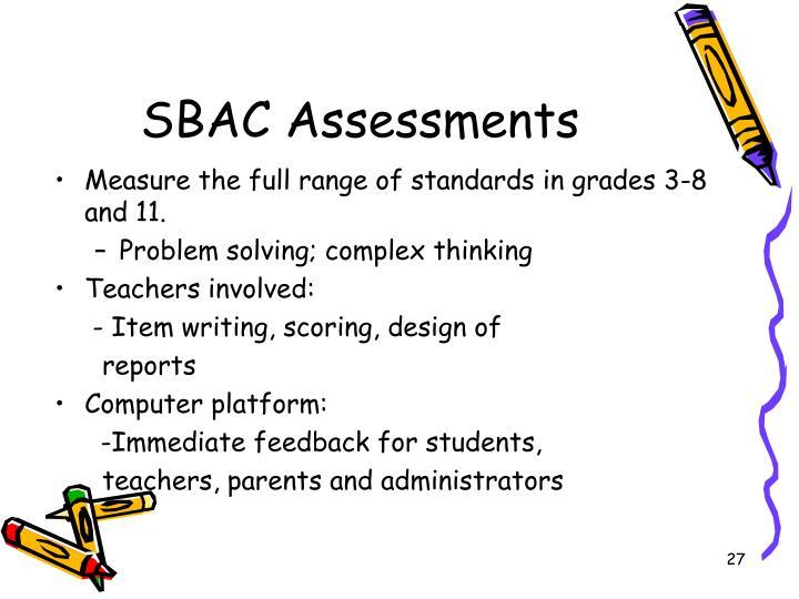 SBAC Assessments