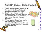 the isbf study of state standards