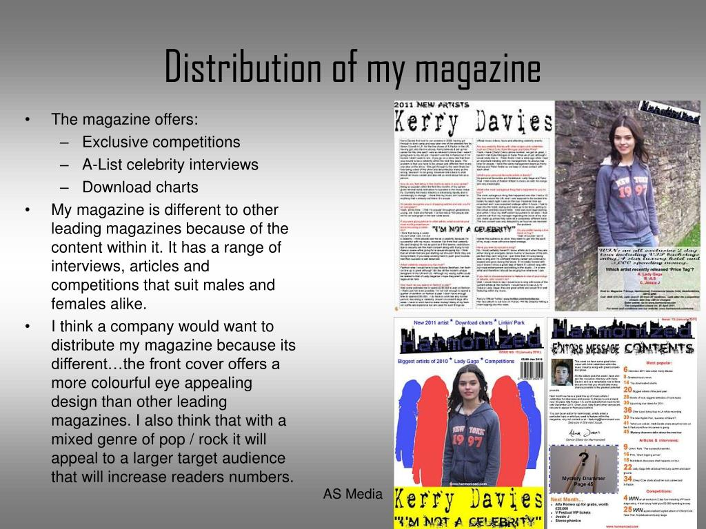 Distribution of my magazine