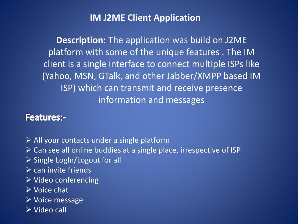 IM J2ME Client Application