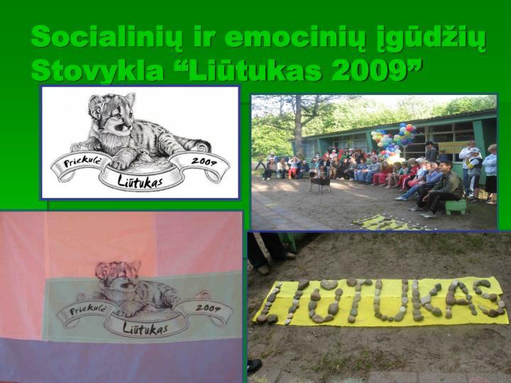 """Socialinių ir emocinių įgūdžių    Stovykla """"Liūtukas 2009"""""""