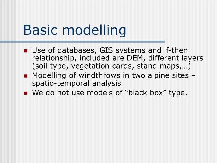 Basic modelling