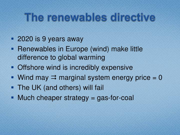 The renewables directive