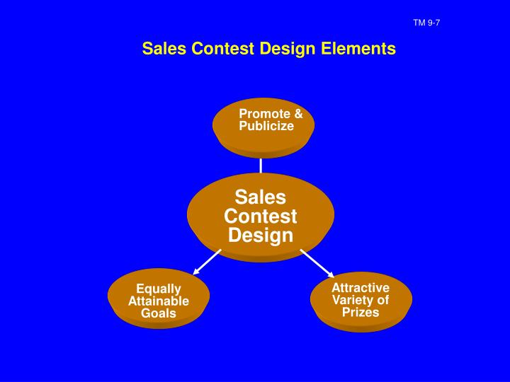 Sales Contest Design Elements