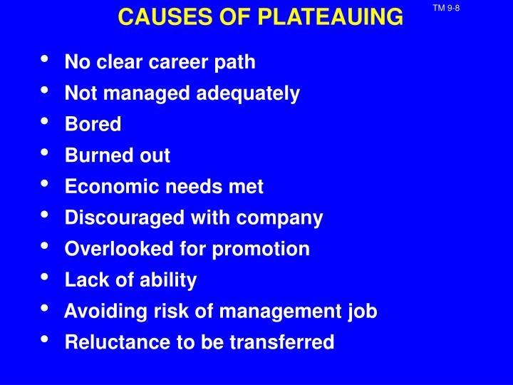 CAUSES OF PLATEAUING