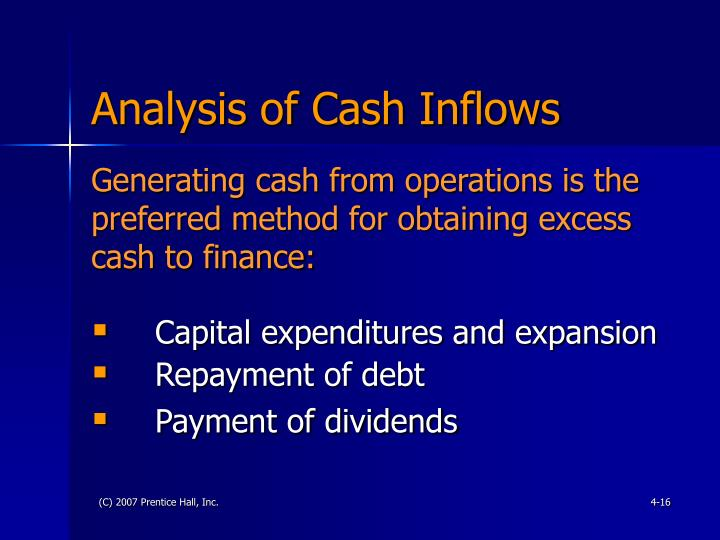 Analysis of Cash Inflows