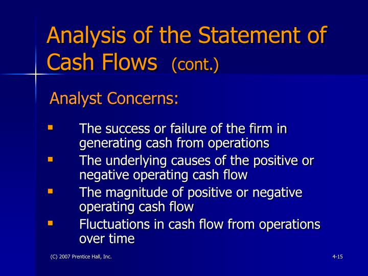 Analysis of the Statement of Cash Flows